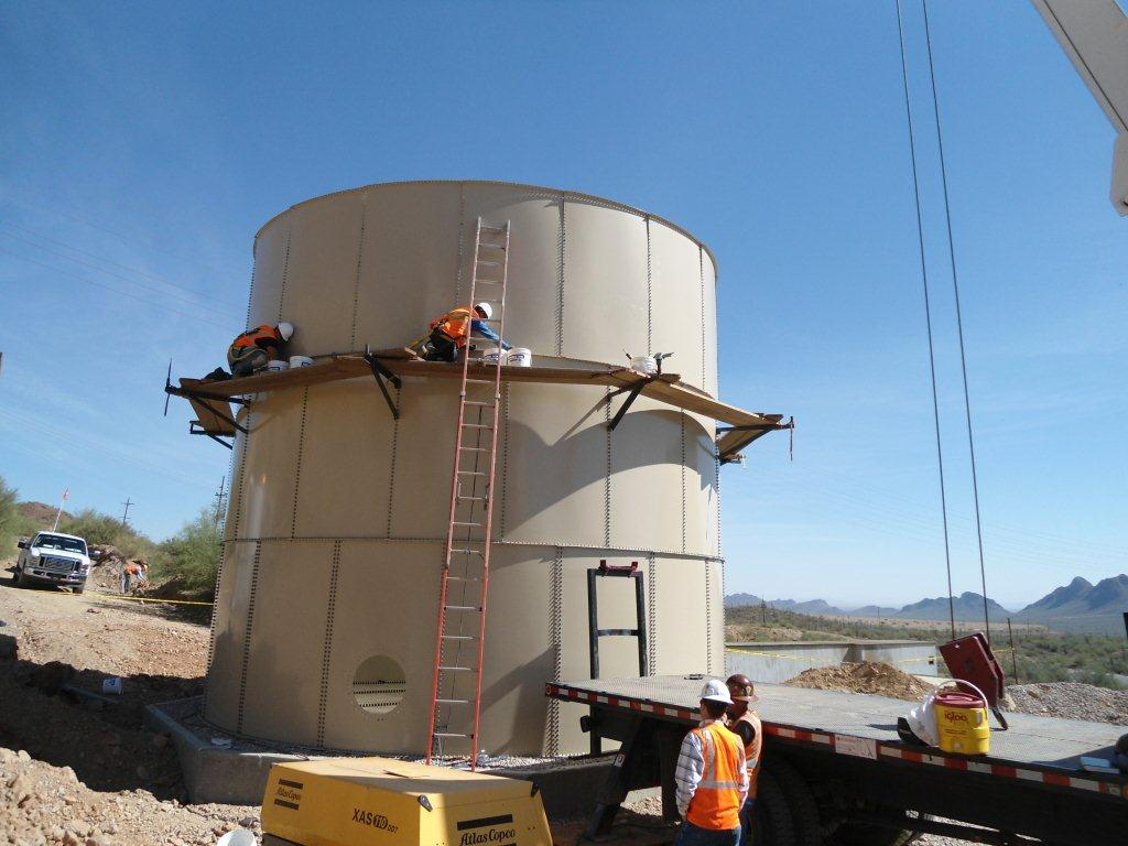 Mountain Vista Water Tank Bell : Gallon water collestion tank silverbell arizona